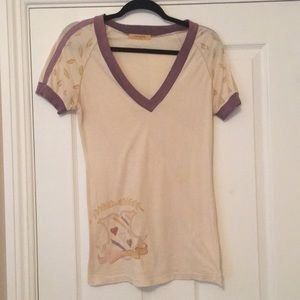 Graphic V Neck Tee